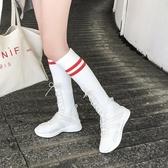 ins超火襪子鞋女韓版ulzzang原宿透氣彈力長筒襪靴休閒運動高幫鞋 交換禮物