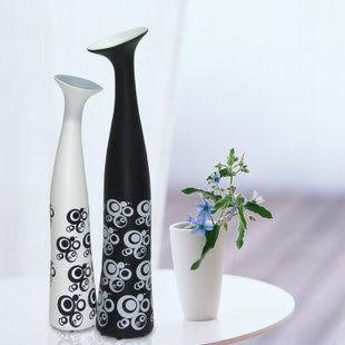 現代簡約創意陶瓷工藝品擺件 裝飾花瓶