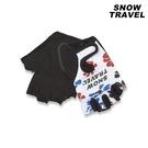 Snow Travel 半指防滑自行車手套AH-9 (花朵) / 城市綠洲 (止滑 單車 腳踏車 騎車 通勤)