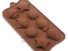 海星魚貝殼造型8格餅乾巧克力蛋糕矽膠模具 烘培模具 手工皂模具 果凍模【AF070】《約翰家庭百貨