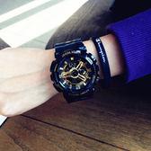 運動時尚韓版潮流ulzzang手錶 男女學生簡約休閒多功能電子錶 防水 壹電部落