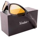 Verdster【美國代購】男女摩托車 太陽眼鏡 紫外線 舒適軟墊框架-黃色