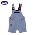 chicco-城市噗噗車-配色織帶背帶短褲