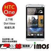 TWMSP★按讚送好禮★iMOS 宏達電 HTC One 3SAS 防潑水 防指紋 疏油疏水 上下段Dot View保護貼