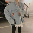 新款秋冬季上衣韓版寬松百搭超火小香風網紅女士牛仔短外套女全館免運
