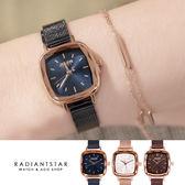 正韓JULIUS美麗的插曲方形小錶面金屬米蘭鍊帶手錶【WJA1148】璀璨之星☆