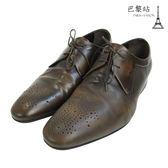 【巴黎站二手名牌專賣店】*現貨*Louis Vuitton LV 真品* 棕色尖頭牛津鞋/皮鞋(6號)