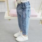女童牛仔褲春秋兒童洋氣外穿2020新款小童秋裝女寶寶加絨秋冬褲子 【雙十二下殺】