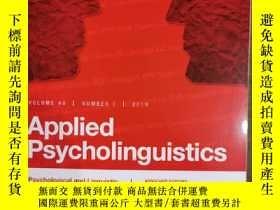 二手書博民逛書店Applied罕見psycholinguistics 2019年 volunteers. 40 number 1奇