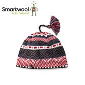 【美國 SmartWool 夢幻仙境小圓帽 《炭黑/紅》】SW010436/保暖針織帽/毛線帽/羊毛帽