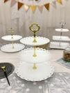 乾果盤 三層水果盤架塑料歐式小精致客廳家用糖果零食蛋糕托盤點心架多層【快速出貨八折鉅惠】