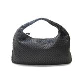 BOTTEGA VENETA 寶緹嘉 黑色羊皮肩背包 Beneta Bag 【二手名牌BRAND OFF】