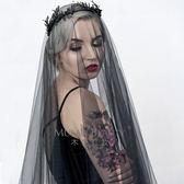 簡約韓式新娘結婚拍照黑色頭紗 LQ4731『夢幻家居』