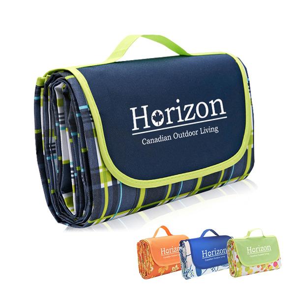 Horizon加大防潮沙灘野餐墊195x200cm(防水/露營帳篷/旅行/地墊/海灘墊/坐墊)
