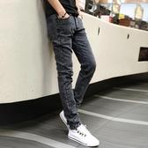 牛仔褲彈力夏季男士直筒牛仔褲修身小腳顯瘦休閒褲子男韓版潮流秋季