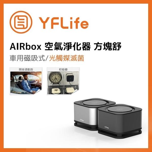 YFLife圓方生活 AIRbox 奈米光觸媒負離子空氣淨化器 方塊舒 車用清淨機 台灣製造 MIT