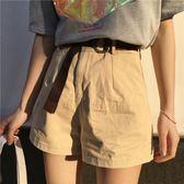 春夏女裝正韓高腰寬鬆顯瘦闊腿褲短褲休閒褲外穿熱褲學生直筒褲潮