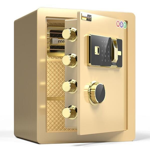 明得指紋密碼45cm保險櫃家用WIFI遠程報警辦公入墻隱形保險箱小型防盜保管箱床頭櫃 阿卡娜