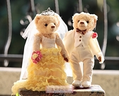 一定要幸福哦~~浪漫婚紗對熊(整組含支架) 、婚禮小物、生日禮、婚禮佈置