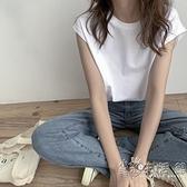 港風背心女夏外穿潮2021新款韓版寬鬆bf風夏季坎肩無袖T恤女上衣 小時光生活館