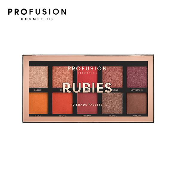 PROFUSION 10色眼影盤-寶石酒紅 16g