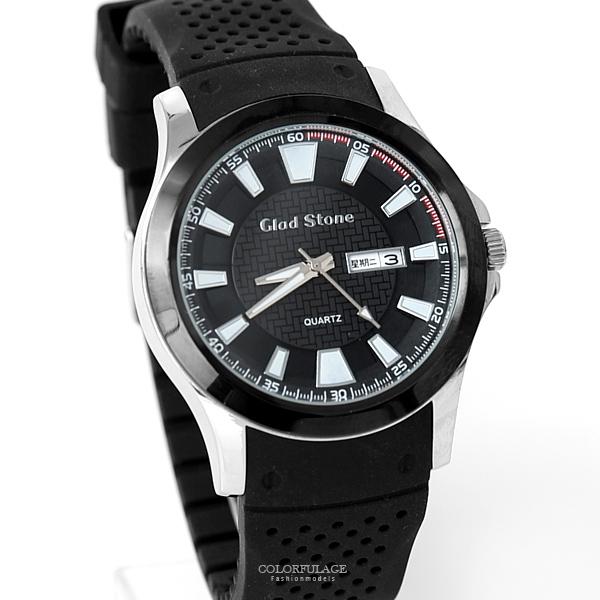 手錶 運動風格厚實矽膠腕錶 柒彩年代【NE2008】單支