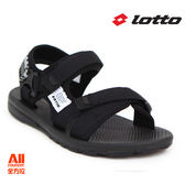 【LOTTO】女款 休閒涼鞋-黑色(L6160)全方位跑步概念館