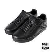 Royal Genesis 全黑色 皮質 套入 運動休閒鞋 男款 NO.B0958【新竹皇家 01994-999】