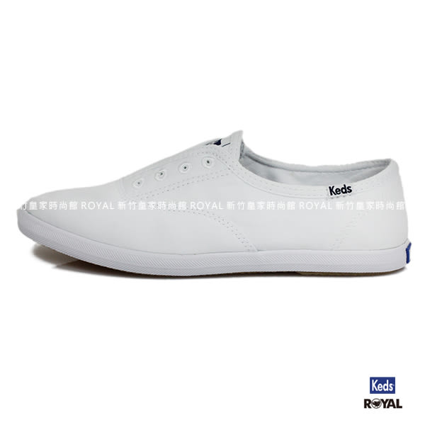 Keds 新竹皇家 CHILLAX 白色 布質 休閒 懶人鞋 女款 NO.I8479