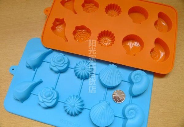 [協貿國際]  海洋貝殼海螺矽膠蛋糕模具
