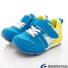 日本Moonstar機能童鞋HI系列2E機能款 2121G9藍黃(中小童段)