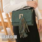 【靚靚小舖】復古流蘇 時尚風格硬殼小包 晚宴包 宴會包【99453】
