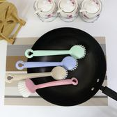 鍋具清潔刷北歐簡約洗鍋刷小麥秸稈清洗刷環保長柄WZ4890【極致男人】