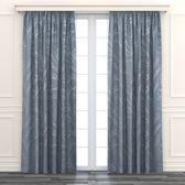 HOLA 杏櫻緹花雙層遮光落地窗簾 270x230cm 灰藍