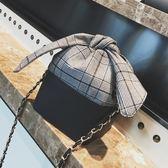 鏈條小包包女2018新款個性水桶包迷你單肩斜挎包