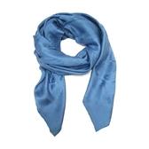 HERMES 愛馬仕 藍色馬具圖案絲質披巾 圍巾  Shawl/scarf 【BRAND OFF】