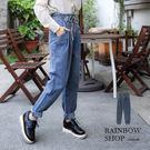 可愛寬鬆綁帶牛仔褲-P-Rainbow【A335050】