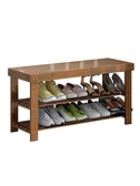鞋架簡易門口宿舍收納家用室內好看換鞋凳實木樓道門廳鞋櫃 【4-4超級品牌日】