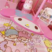 迷你可愛小桌子粉色桌面收納小桌 米蘭shoe