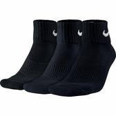 Nike 3 Pack Socks [SX4703-001] 男 短筒襪 運動 透氣 舒適 3入 黑
