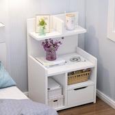 簡易床頭櫃置物架床邊收納小型櫃子簡約現代臥室床頭儲物櫃多功能YYP 歐韓流行館