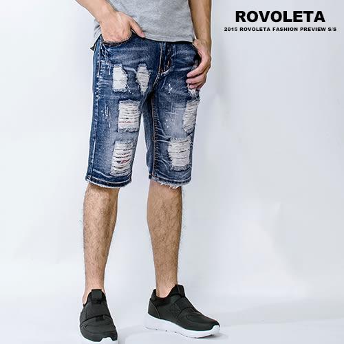 刷破英國國旗牛仔短褲【ZCF-5015】(ROVOLETA)