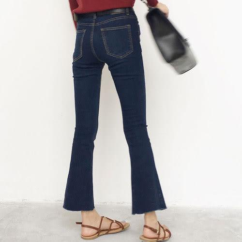 喇叭褲 艾爾莎 激瘦緊緻修身顯瘦小喇叭牛仔褲【TGK4096】