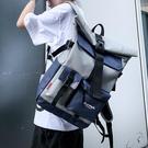 雙肩包 書包男韓版大學高中學生旅行包電腦包撞色潮牌休閒雙肩包【快速出貨八折鉅惠】