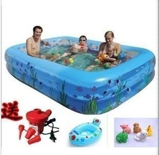 兒童充氣游泳池超大號305*183*51【藍星居家】