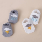 童襪 寶寶純棉雲朵船型防滑襪 B6B021
