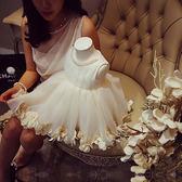 【熊貓】韓版高腰周歲花童婚紗禮服公主裙女童連身裙