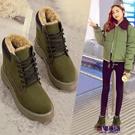 雪靴 2019新款棉鞋女學生冬季防滑短筒雪地靴加絨加厚保暖短靴女鞋防水