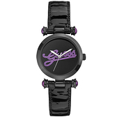 GUESS 浮華摩登漆靚時尚腕錶(紫)