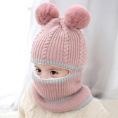 女童帽子秋冬季潮韓版不透風寶寶護耳保暖帽兒童加絨帽小孩毛線帽  潮流小鋪